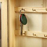 """Ключница дерево под роспись """"Фигурная со стеклом"""" 23х19,5х6 см, фото 4"""