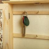 """Ключница дерево под роспись """"Цветочные ставни"""" 28х22х5,5 см, фото 4"""