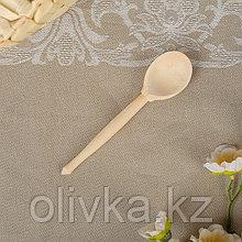 Ложка деревянная, чайная, без росписи