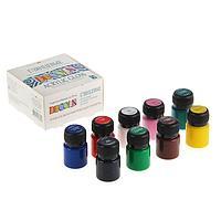 Набор акриловых красок Decola, 9 цветов, 20 мл, глянцевые