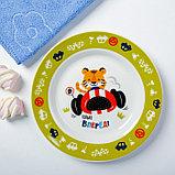 Набор детской посуды «Гонщик»: кружка 250 мл, тарелка Ø 17 см, полотенце 15 × 15 см, фото 2