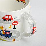 Набор детской посуды «Гонщик»: кружка 250 мл, тарелка Ø 17 см, полотенце 15 × 15 см, фото 4