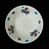 """Набор детской посуды """"Пилот"""", 3 предмета: тарелка 17,5 см, миска 250 мл (d=17,5 см), кружка 260 мл , рисунок МИКС, фото 3"""