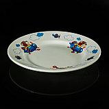 """Набор детской посуды """"Пилот"""", 3 предмета: тарелка 17,5 см, миска 250 мл (d=17,5 см), кружка 260 мл , рисунок МИКС, фото 4"""