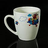 """Набор детской посуды """"Пилот"""", 3 предмета: тарелка 17,5 см, миска 250 мл (d=17,5 см), кружка 260 мл , рисунок МИКС, фото 6"""