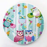 Набор детской посуды «Совушки», 3 предмета: кружка 230 мл, миска 400 мл, тарелка 18 см, фото 2