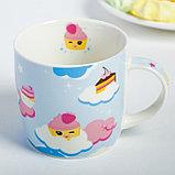 Набор детской посуды «Сладкоежка»: кружка 250 мл, тарелка Ø 17.5 см, салфетка 35 × 22 см, фото 2