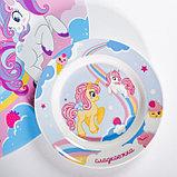 Набор детской посуды «Сладкоежка»: кружка 250 мл, тарелка Ø 17.5 см, салфетка 35 × 22 см, фото 4