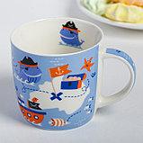 Набор детской посуды «Пираты»: кружка 250 мл, тарелка Ø 17 см, полотенце 15 × 15 см, фото 3
