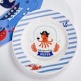 Набор детской посуды «Пираты»: кружка 250 мл, тарелка Ø 17.5 см, салфетка 35 × 22 см, фото 4