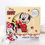 """Набор посуда """"Disney. Минни"""", 3 предмета: кружка 240 мл, миска 18 см, тарелка 19 см, в подарочной упаковке, фото 5"""