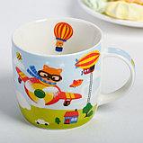 Набор детской посуды «Пилот»: кружка 250 мл, тарелка Ø 17 см, полотенце 15 × 15 см, фото 3