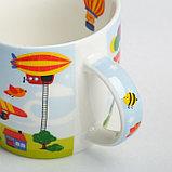 Набор детской посуды «Пилот»: кружка 250 мл, тарелка Ø 17 см, полотенце 15 × 15 см, фото 4