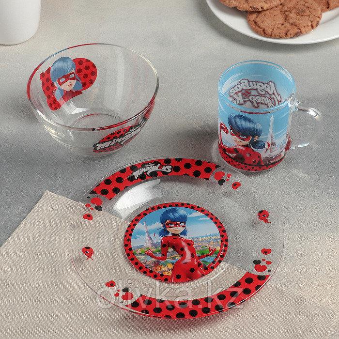 """Набор для завтрака """"Леди Баг и Супер Кот, Париж"""", 3 предмета, в подарочной упаковке"""