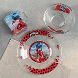 """Набор для завтрака """"Леди Баг и Супер Кот, Париж"""", 3 предмета, в подарочной упаковке, фото 2"""