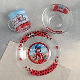 """Набор для завтрака """"Леди Баг и Супер Кот, Париж"""", 3 предмета, в подарочной упаковке, фото 3"""