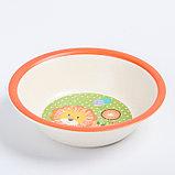 """Набор бамбуковой посуды """"Лёвушка"""", тарелка, миска, стакан, приборы, 5 предметов, фото 5"""