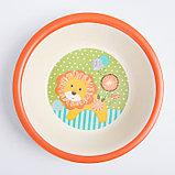 """Набор бамбуковой посуды """"Лёвушка"""", тарелка, миска, стакан, приборы, 5 предметов, фото 6"""