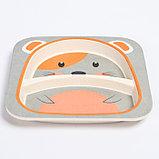 """Набор бамбуковой посуды """"Мышка"""", тарелка, миска, стакан, приборы, 5 предметов, фото 4"""