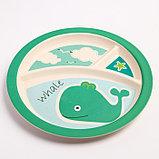 """Набор бамбуковой посуды """"Китенок"""",тарелка, миска, кружка, приборы, 5 предметов, фото 4"""