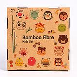 """Набор бамбуковой посуды """"Коровка"""",тарелка, миска, кружка, приборы, 5 предметов, фото 9"""