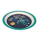 Набор детской посуды из бамбука «Робот», 5 предметов: тарелка, миска, стакан, столовые приборы, фото 4