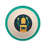 Набор детской посуды из бамбука «Робот», 5 предметов: тарелка, миска, стакан, столовые приборы, фото 6