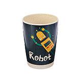 Набор детской посуды из бамбука «Робот», 5 предметов: тарелка, миска, стакан, столовые приборы, фото 7