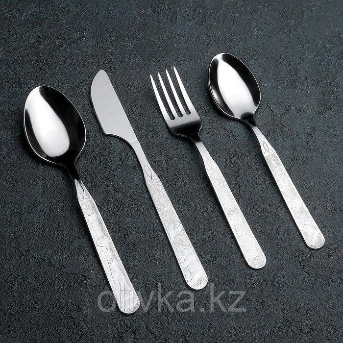 Набор столовых приборов «Топтыжка», 4 предмета, толщина 1,5 мм