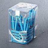 Набор столовых приборов «Хэнди», 24 предмета, на пластиковой подставке, цвет синий, фото 6