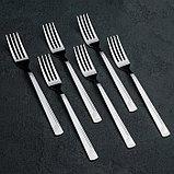 Набор столовых приборов «Аппетит», 24 предмета, толщина 2 мм, фото 5