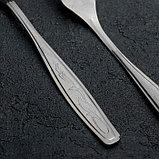 Вилка столовая «Силуэт», h=19,7 см, толщина 1 мм, упрощённая обработка, фото 2