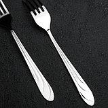 Вилка столовая «Диана», h=19 см, толщина 1,8 мм, фото 2