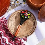 Ложка деревянная «Чернушка», полубаская, хохлома, фото 2