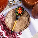 Ложка деревянная «Чернушка», полубаская, хохлома, фото 3