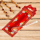 Пасхальная ложка сувенирная «ХВ. Жостово», фото 2