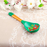 Ложка «Зеленушка», салатная, 6×21, хохлома, фото 3
