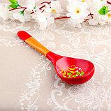 Ложка «Краснушка», салатная, 6×21, хохлома, фото 3