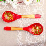 Ложка «Краснушка», салатная, 6×21, хохлома, фото 4