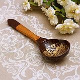 Ложка «Золотая кудрина», салатная, 6×21 МИКС, фото 5