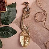 """Ложка с гравировкой сувенирная на открытке """"Любимая теща"""", фото 3"""