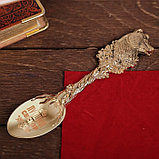 """Ложка с гравировкой сувенирная на открытке """"Лучший свекор"""", фото 2"""