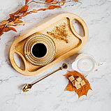 Кофейная ложка «Золото», h=18 см, толщина 2 мм, фото 4