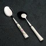 Набор ложек столовых «Весна», h=19 см, 6 шт, керамическая ручка, фото 3