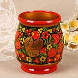 Набор «Хозяюшка», 6 ложек и ваза, 13×9 см, хохлома, фото 3