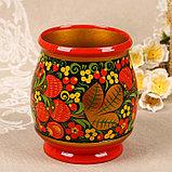 Набор «Хозяюшка», 6 ложек и ваза, 13×9 см, хохлома, фото 4