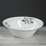 "Столовый набор ""Бостон-терьер"" тарелка d175 мм, салатник 0,5 л, чашка 0,2 л   микс, фото 2"