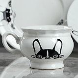 "Столовый набор ""Бостон-терьер"" тарелка d175 мм, салатник 0,5 л, чашка 0,2 л   микс, фото 8"