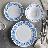 """Сервиз столовый """"Синий бриз"""", 18 предметов: 6 тарелок 17,5 см / 23 см / 15х5 см, фото 2"""