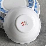 """Сервиз столовый """"Синий бриз"""", 18 предметов: 6 тарелок 17,5 см / 23 см / 15х5 см, фото 3"""